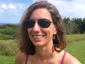 Elizabeth, aka triathlonobsession, at Haiku, Maui,last year