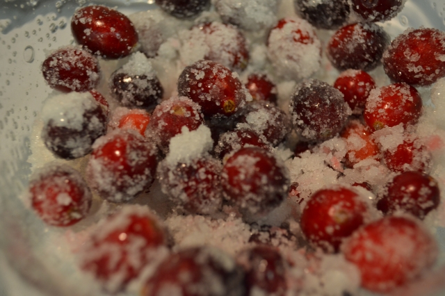Dawn's cranberries, a holiday treat.