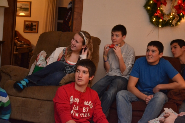 Ben with some of his cousins: From left, Madison, Max, Riley and Garrett.