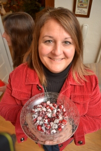 Dawn with her cranberry poppers