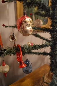 "One of the antique ornaments on Rick's ""feather tree."""