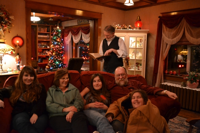 Bob only shot a fraction of the vintage ornaments Rick and Jen had on display, like the tree in the den in the background. Next year they need to participate in the Markle Christmas home tour so we can get more pictures. (Hint, hint!)