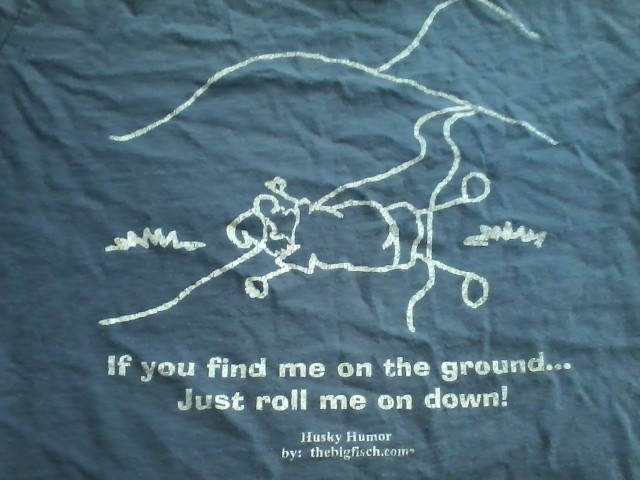 "I may need to break out one of my favorite old hiking T-shirts for our ""virtual mountain hikes"" challenge."