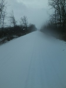 It was fun to get out for a run in the snow on Friday. I only went a couple of miles, but on the unplowed road it felt a lot like running on sand at the beach...