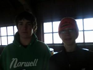 Ben and Noah after the run.
