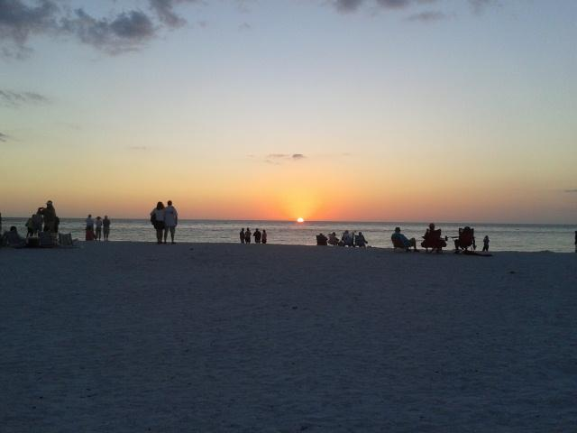 My parents love to walk down and watch the sun set over the Gulf.