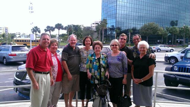 My parents, on the left, visiting Dad's Aunt Vi and her family during their annual Florida trip.
