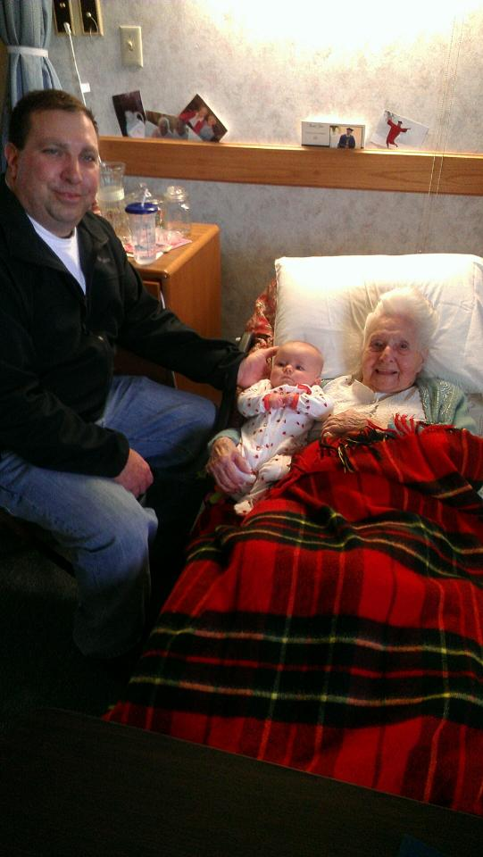 These two lovely ladies were both born in '12 -- Annie-Bananie in 1912 and Kyla in 2012.