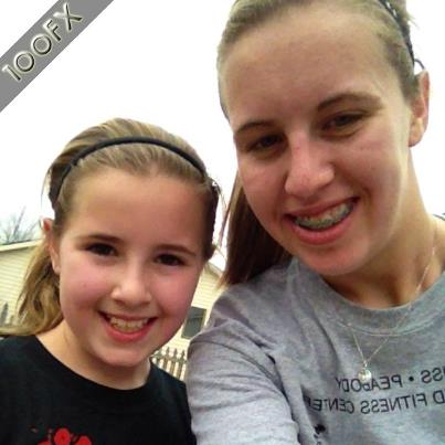 Now Madison, shown here with little sis Monroe, says she's going out for track for the first time.