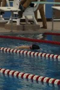 Madison swam 35 lengths in 15 minutes at Saturday's indoor team triathlon. It was the second-best distance turned in among all swimmers on the day.