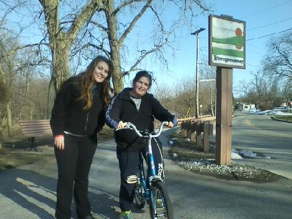 Rowan and Colleen took advantage of nice springlike weather Thursday and hit the greenway.