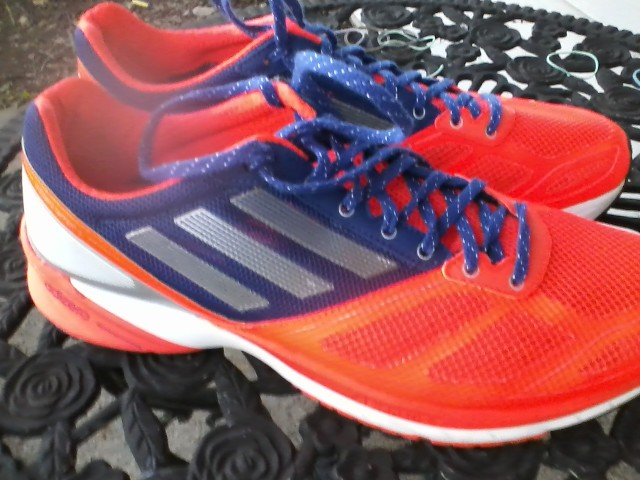 Ben's new Adidas Tempo shoes. He says they are really light for motion control shoes.