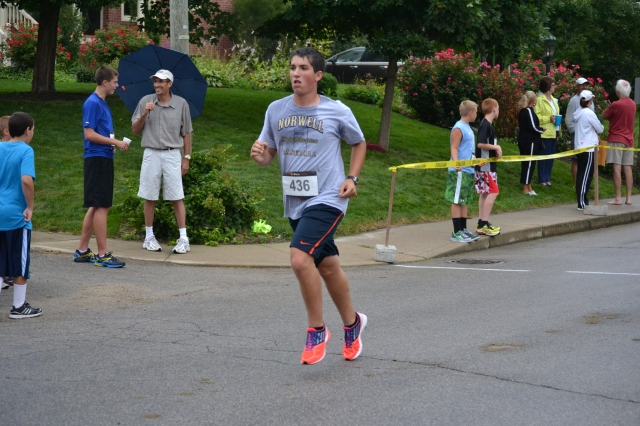 Due to a numbers mix-up, Ben was credited with placing in the women's age 40-49 age group.
