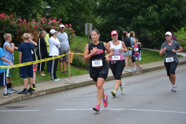 Traci hadn't run Swiss Days in several years, but she wound up winning her first-ever ribbon by placing 10th in her age group.