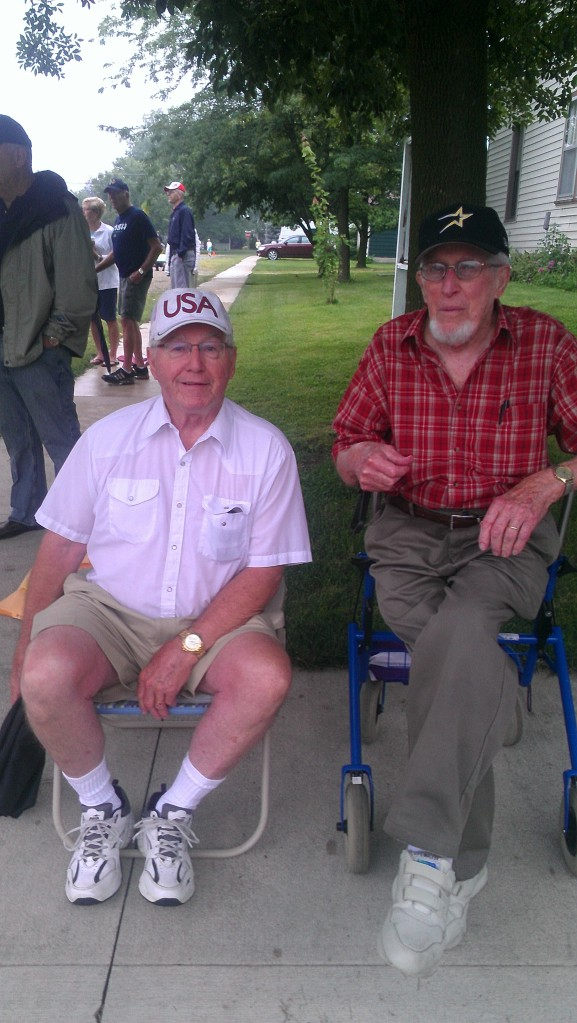 Fred Whitehurst and 95-year-old Richard Beitler have watched nearly every Swiss Days race ever held.