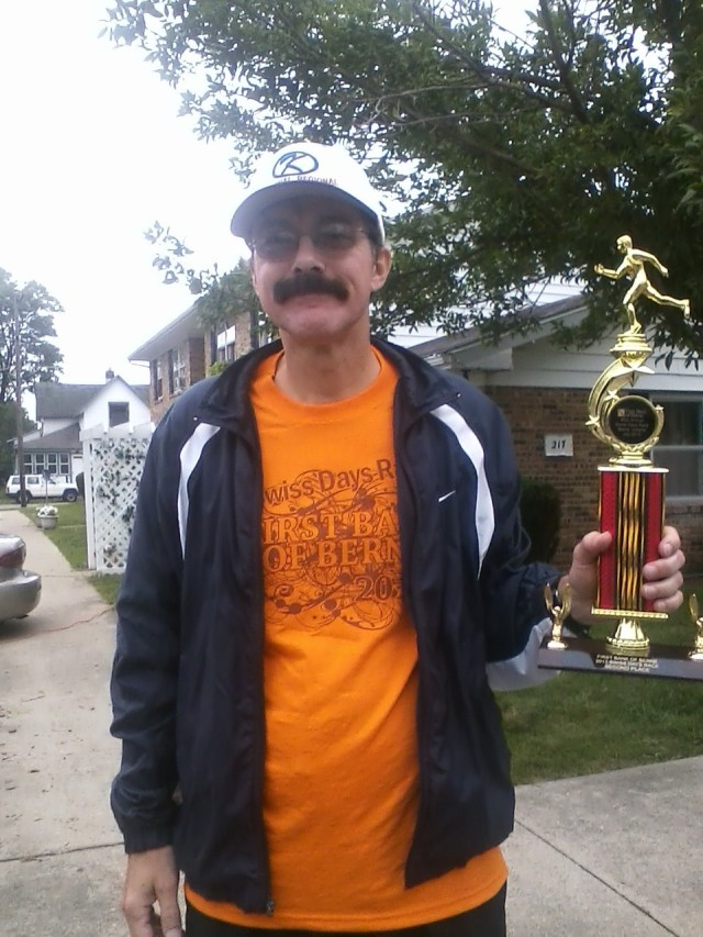 Mark Shorter, longtime treasurer of a 400-member running club in Kokomo and the second-place finisher in the 60 and up age group on Saturday, said he only knows of one Indiana race that's been continuously operating longer than Swiss Days -- the Sam Costa half marathon in Carmel, now in its 44th year.