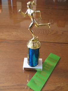 I couldn't believe I won first place in my age group at the Gator Gallop after placing 8th earlier in the day at the Swiss Days Race.