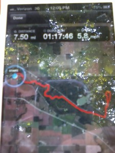 This is the route from the White Bridge to Ouabache State Park, with a loop around the campground and back.