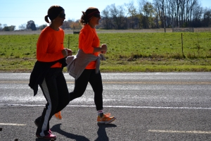 My sister and I on our 50-mile run/walk in November.