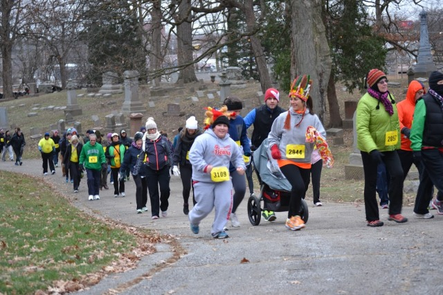 The Galloping Gobbler was a great way for Colleen and I to start off this year's Runner's World Holiday Run Streak.