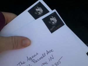 Three miles later, the Christmas cards were no worse for wear and ready to be mailed.