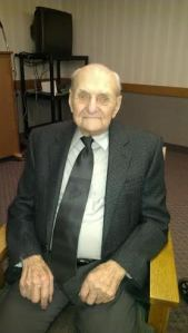 Sylvan at his 100th birthday party on Sunday.