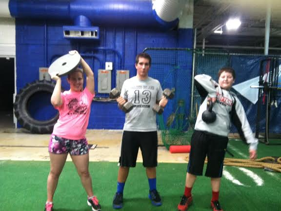 Madison, Ben and Mason did an intense circuit workout Saturday night at the baseball annex, but it didn't help Ben and Mason, who wound up with a gain this week.