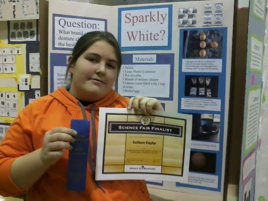 You are looking at a science fair finalist -- who just happens to be 11 pounds lighter than 3 weeks ago.
