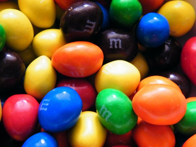 "Ever wonder how the factory stamps an ""M"" on these guys without cracking the candy shell?"