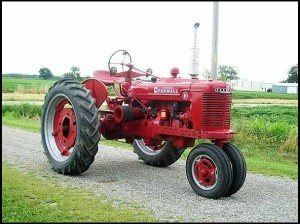 A 1944 model H Farmall tractor like the one that was Hubert's pride and joy.