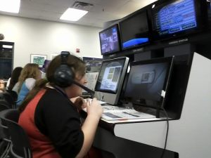 Here I am in mission control, giving instructions to the spacecraft.