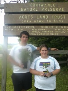 Ben and Colleen after the Waterfall 5K. It was cool that they gave out plants instead of trophies or plaques, in keeping with the preservation theme of hosting a trail run at an ACRES site.