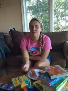 """My niece Madison tries the  cricket bars, which were advertised as """"gourmet energy bars."""""""