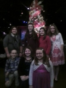 "Some of my friends and I at the Beef and Boards production of ""A Christmas Carol"" last Friday in Indy."