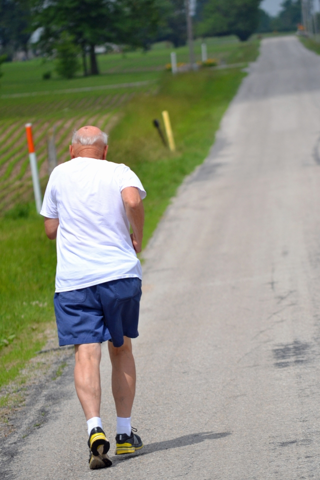 Jim Schwarzkopf adds another 3 miles to his goal of running every road and street in Wells county -- for the second time.