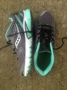 My new Saucony Grid Liberate shoes. They already have one run on them and many more to go.