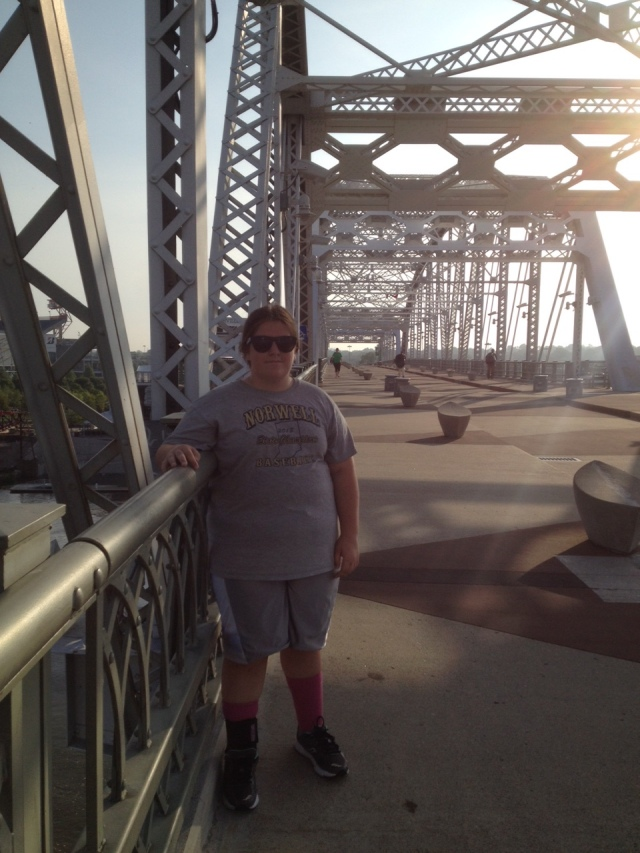 Colleen and I went for a run from our hotel to the pedestrian bridge in downtown Nashville.
