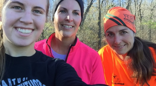 Madison, Traci and I after Saturday's 5.75-mile trail run.