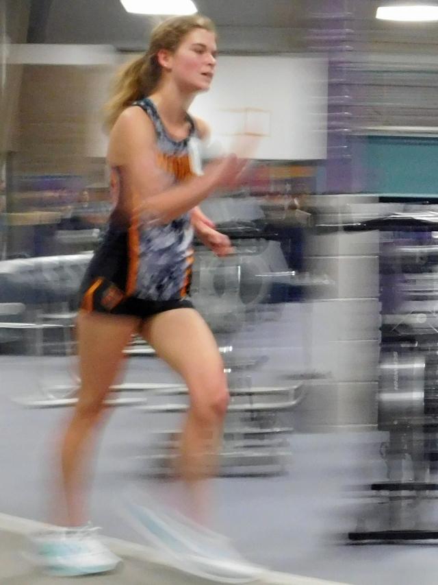 blurred race walker